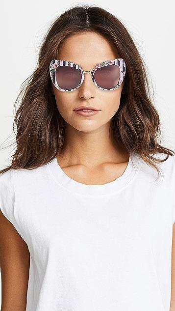 Dolce & Gabbana Rose Cat Eye Sunglasses