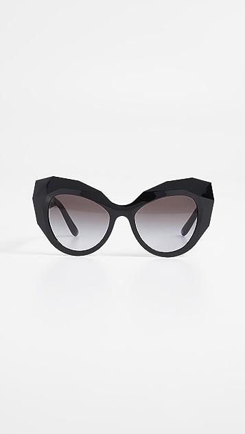 Dolce & Gabbana Geometric Oversized Cat Eye Sunglasses