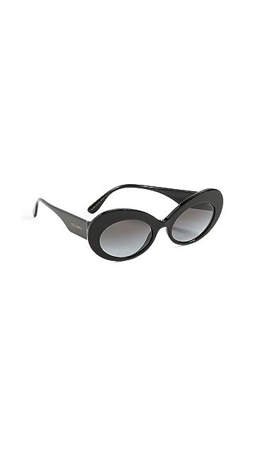Dolce & Gabbana Oval Sunglasses