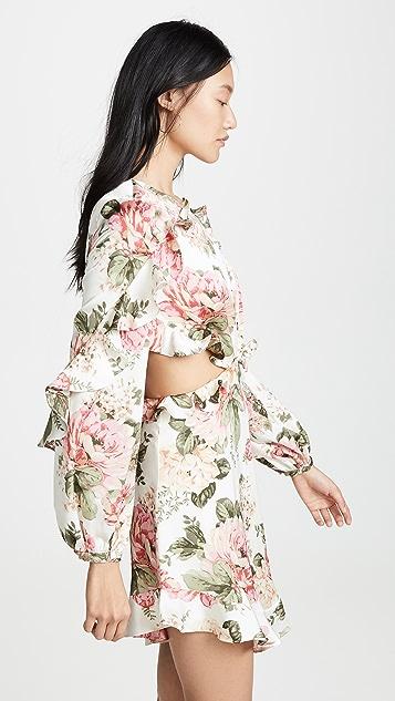 Divine Heritage Платье с вырезом и длинными рукавами