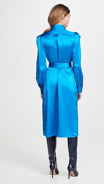 Divine Heritage Crepe Back Satin Shirt Dress