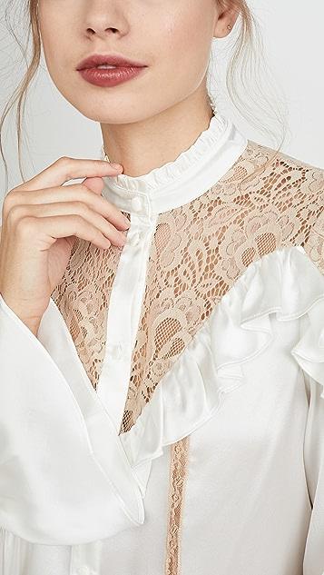 Divine Heritage Long Sleeve Blouse