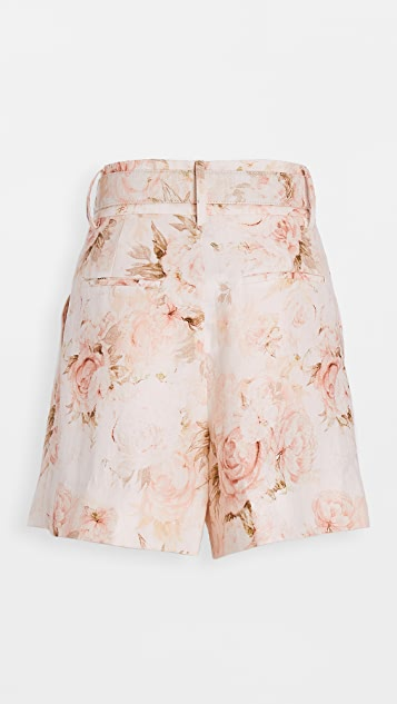Divine Heritage Belted High Waisted Long Shorts