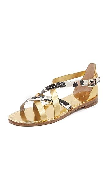 Diane von Furstenberg Cannes Flat Sandals