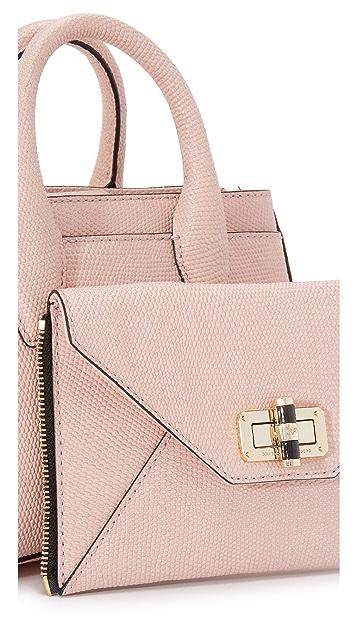 Diane von Furstenberg Миниатюрная объемная сумка с короткими ручками 440 Gallery Secret Agent