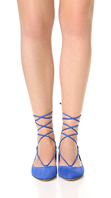 Diane von Furstenberg Paris Lace Up Flats