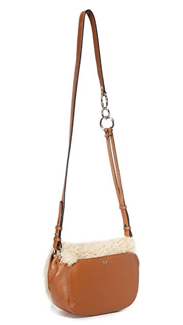 Diane von Furstenberg Shearling Love Power Saddle Bag