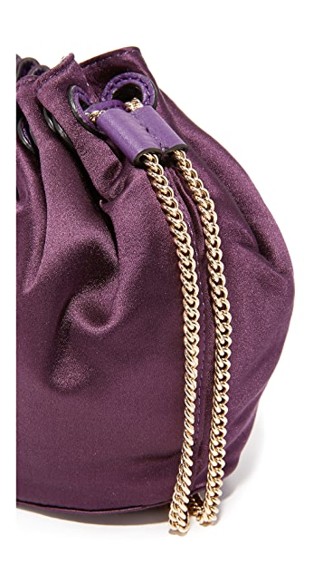 Diane von Furstenberg Love Power Mini Satin Drawstring Bag