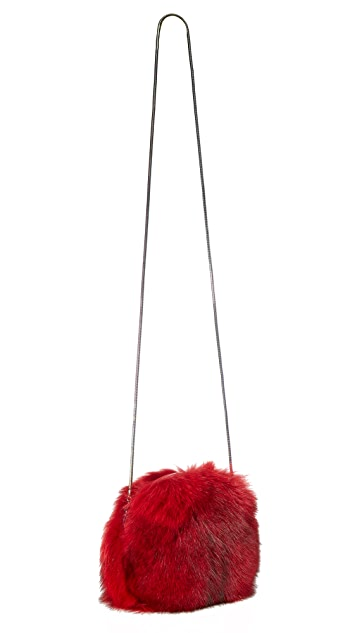 Diane von Furstenberg Love Power Fur Puff Mini Bag