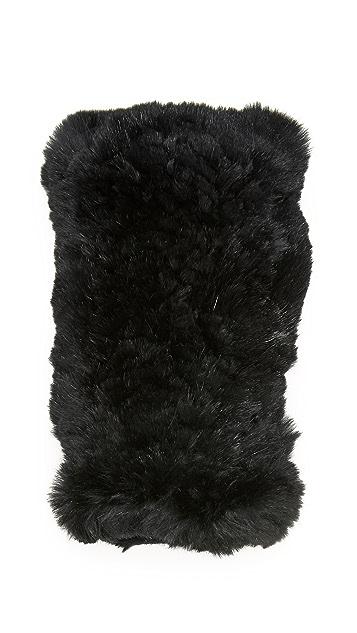 Diane von Furstenberg Rabbit Fingerless Gloves