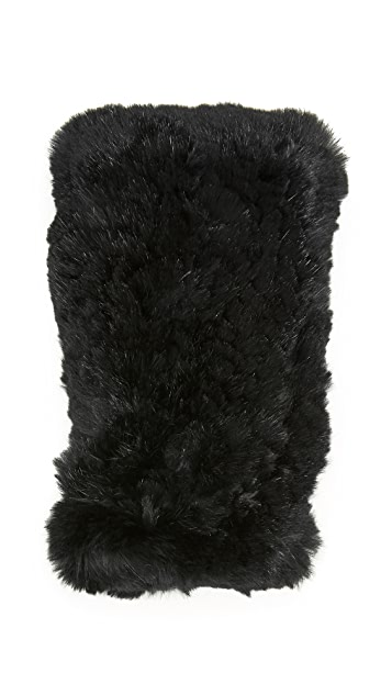 Diane von Furstenberg Rabbit Fingerless Gloves