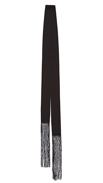 Diane von Furstenberg Skinny Rectangle Fringe Scarf