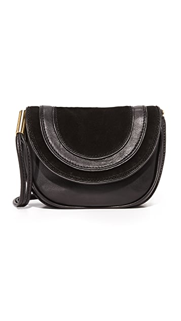 Diane von Furstenberg Mini Suede & Leather Saddle Bag