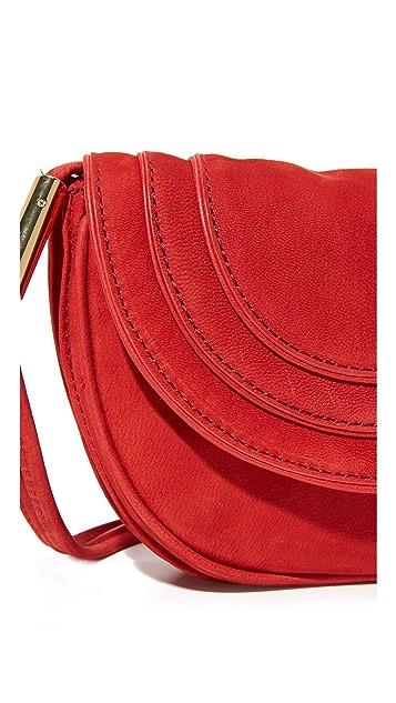 Diane von Furstenberg Mini Nubuck Saddle Bag