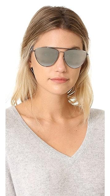 Diane von Furstenberg Krista Aviator Sunglasses
