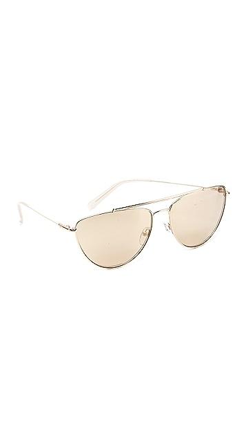 d5baf6430da3a Diane von Furstenberg Krista Aviator Sunglasses