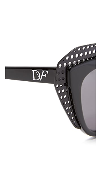 Diane von Furstenberg Alexa Cat Eye Sunglasses