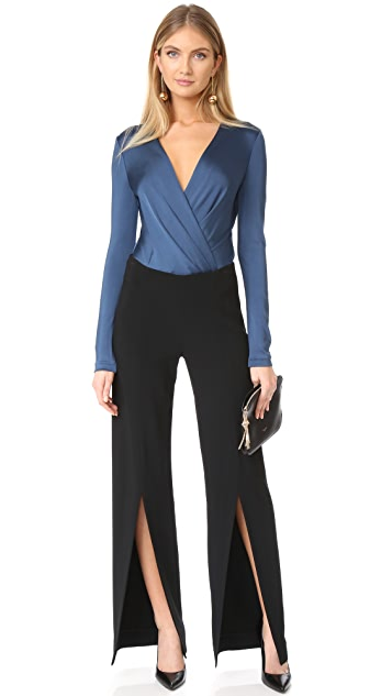 Diane von Furstenberg Long Sleeve Lala Bodysuit