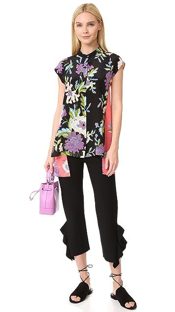 Diane von Furstenberg Asymmetrical Short Sleeve Shirt