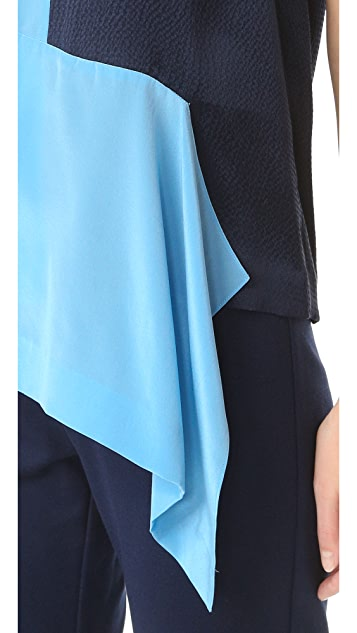 Diane von Furstenberg Short Sleeve Paneled Tee