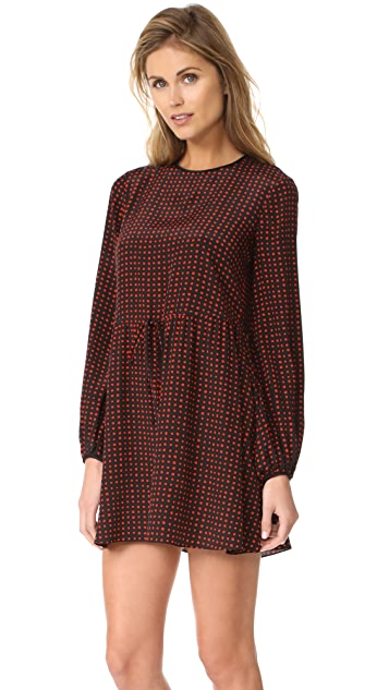 Diane von Furstenberg Long Sleeve Crew Neck Dress