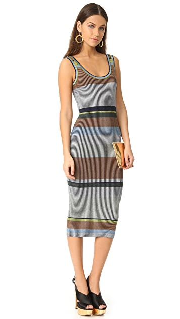 Diane von Furstenberg Sleeveless Knit Tank Midi Dress