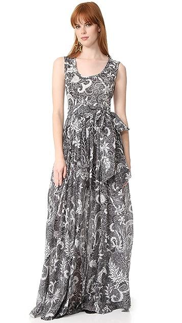 Diane von Furstenberg Floor Length Pleated Dress