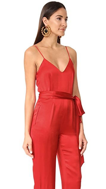 Diane von Furstenberg Sleeveless Pleat Front Jumpsuit