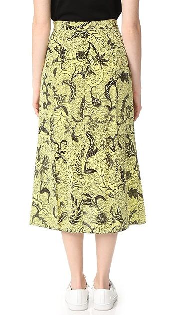 Diane von Furstenberg Waist Tie Button Front Skirt