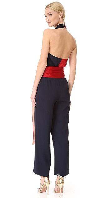 Diane von Furstenberg Sleeveless Wrap Jumpsuit