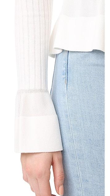 Diane von Furstenberg Knit Peplum Top