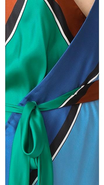 Diane von Furstenberg Scarf Hem Tiered Dress