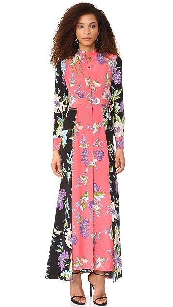 Diane von Furstenberg Floor Length Shirtdress