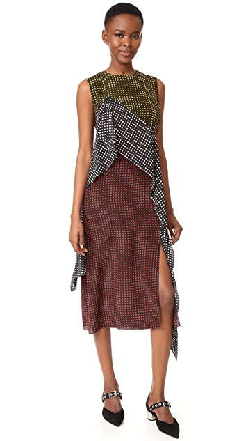 Diane von Furstenberg Sleeveless Ruffle Dress