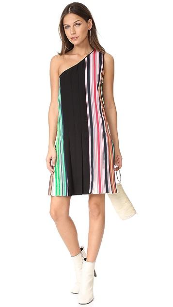 Diane von Furstenberg One Shoulder Ribbon Dress