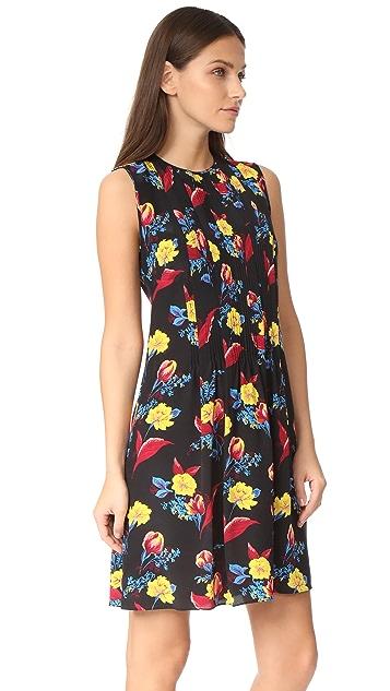 Diane von Furstenberg Sleeveless High Neck Flare Dress
