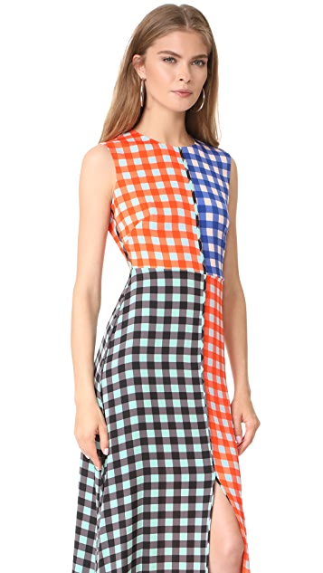 Diane von Furstenberg Sleeveless High Neck Flare Dress