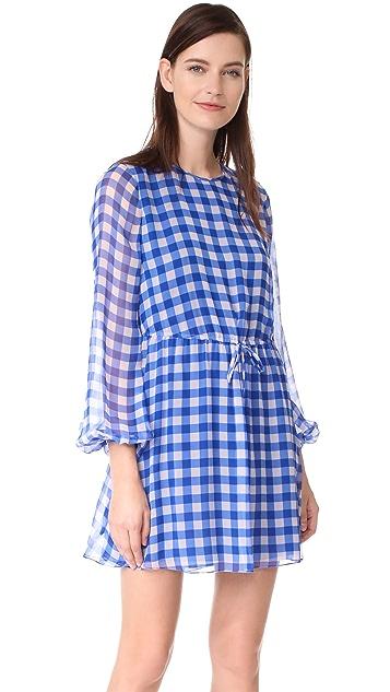 Diane von Furstenberg Check Mini Dress