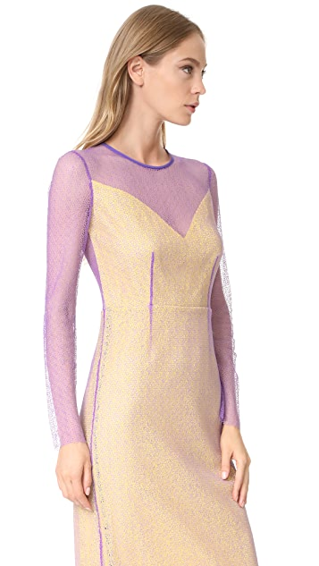 Diane von Furstenberg L/S Crewneck Two Layered Dress