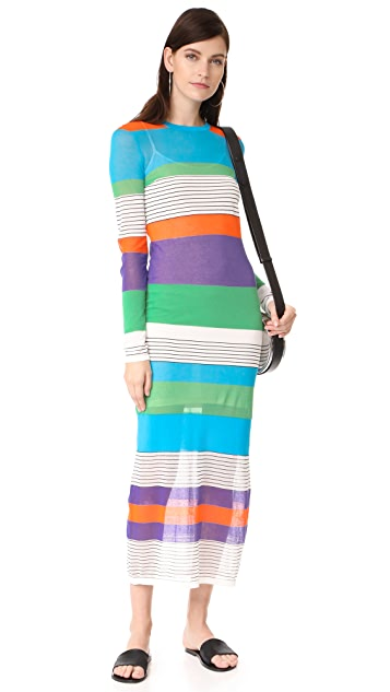 Diane von Furstenberg Knit Colorblock Dress