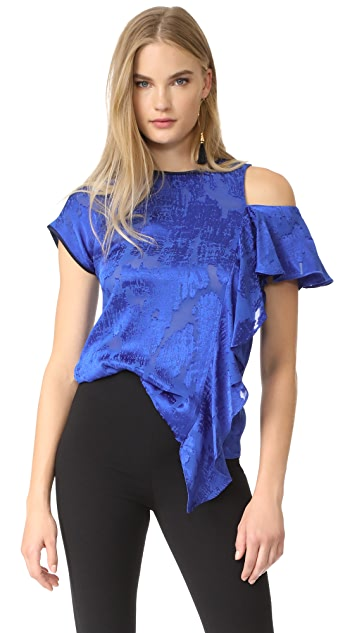 Diane von Furstenberg Side Ruffle Shirt