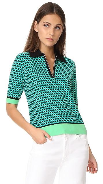 Diane von Furstenberg Collared Knit Shirt