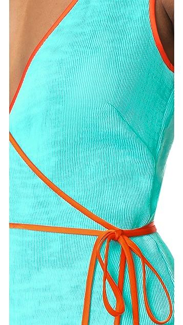 Diane von Furstenberg Asymmetric Ruffle Hem Dress