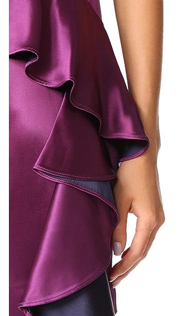 Diane von Furstenberg Sleeveless Cross Body Ruffle Dress
