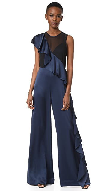 Dvf Diane Von Furstenberg ruffle jumpsuit Discount Very Cheap 2018 For Sale Discount Official Quality From China Cheap Buy Cheap Limited Edition ov9m5CAV