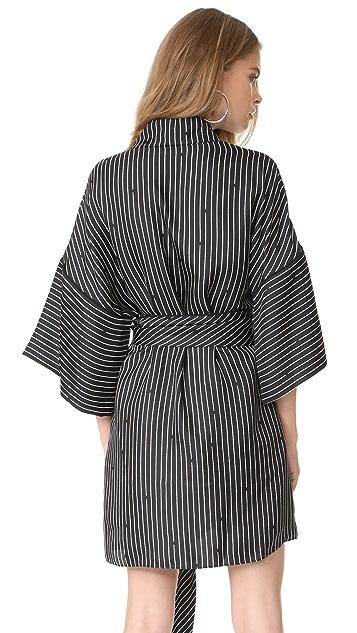 Diane von Furstenberg V Neck Tie Front Blouse