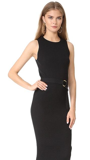 Diane von Furstenberg Sleeveless Knit Belted Dress