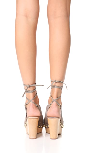 Diane von Furstenberg Bali Wrap Wedges