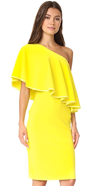 Diane von Furstenberg One Shoulder Ruffle Front Dress