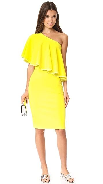 Diane von Furstenberg One Shoulder Ruffle Front Dress